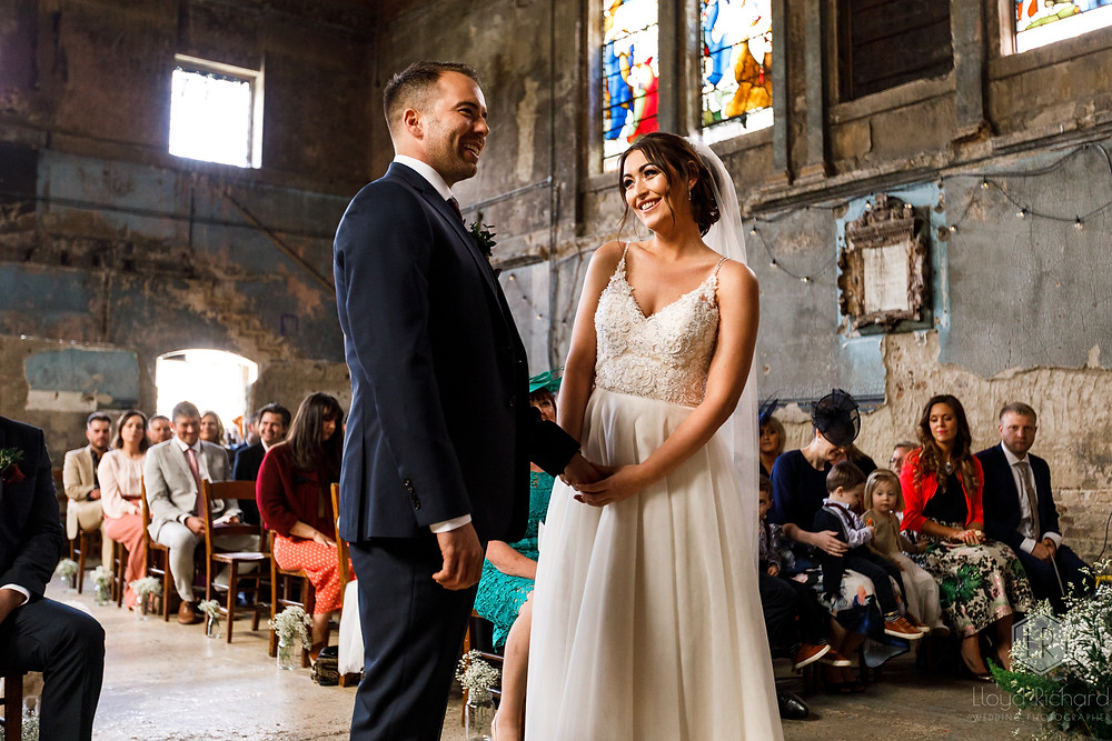 Asylum Chapel Bride and Groom getting married