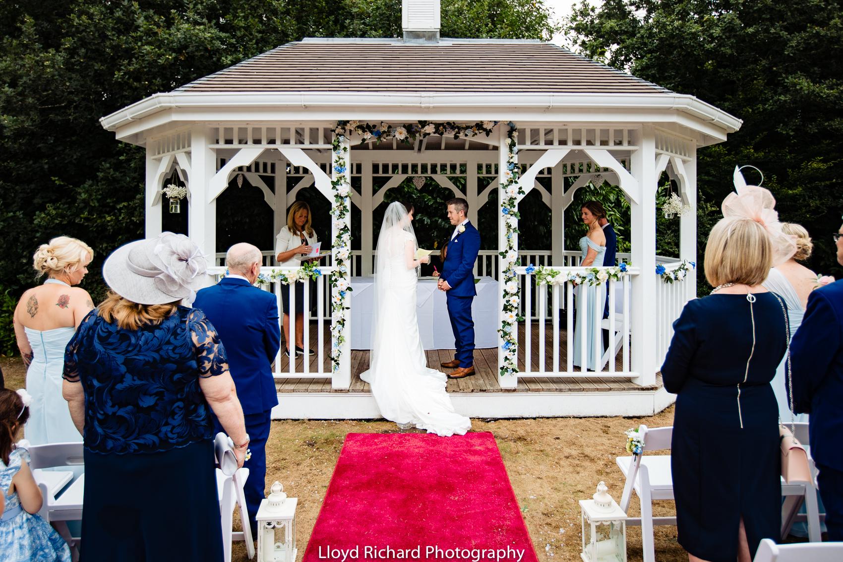 pavillion at Moorhill House Hotel wedding