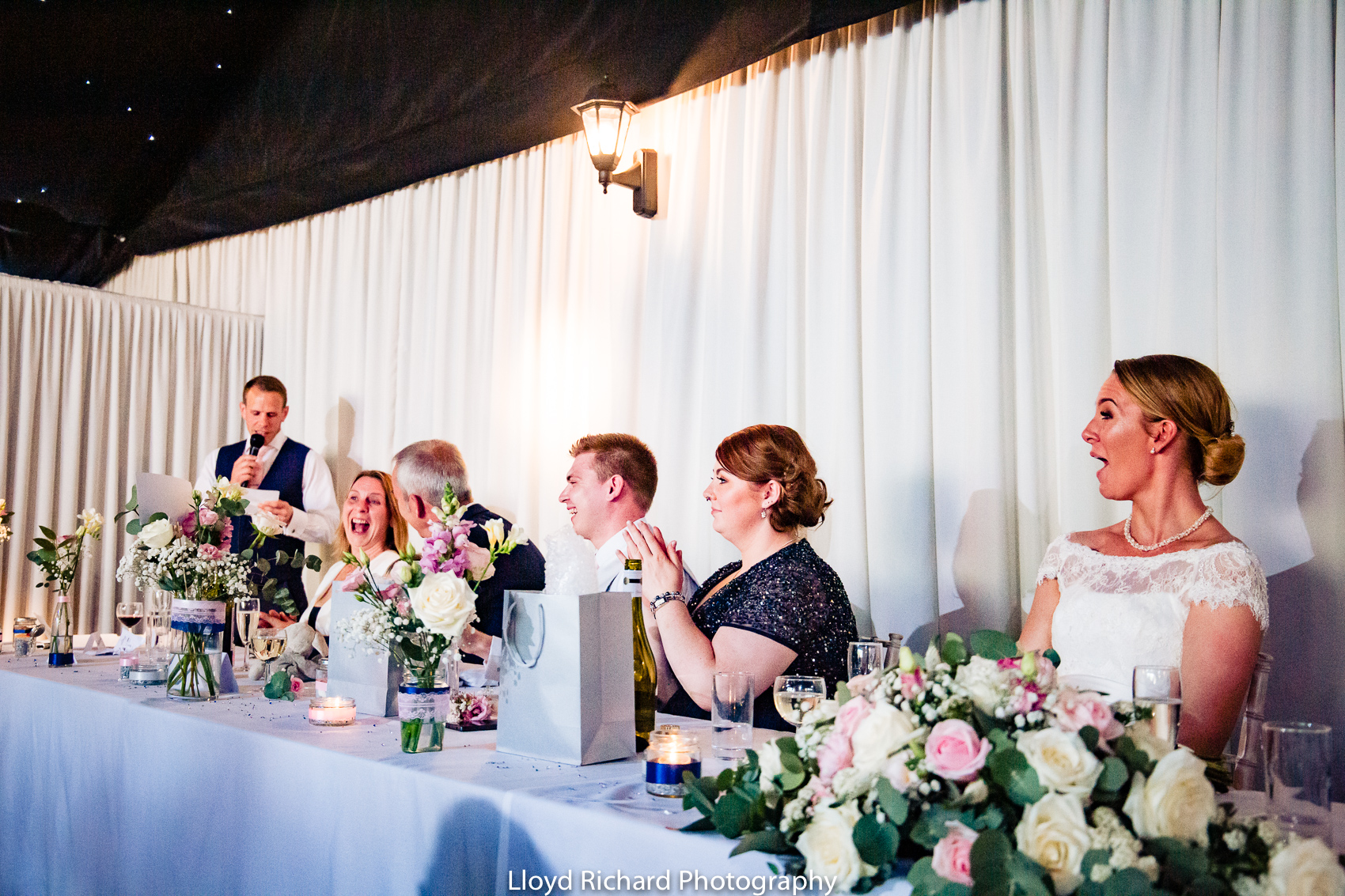 groom speech at Pitt Hall Barn