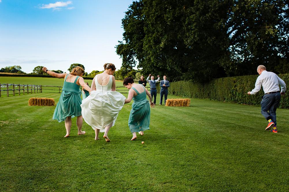Wedding games at Bartholomew Barn