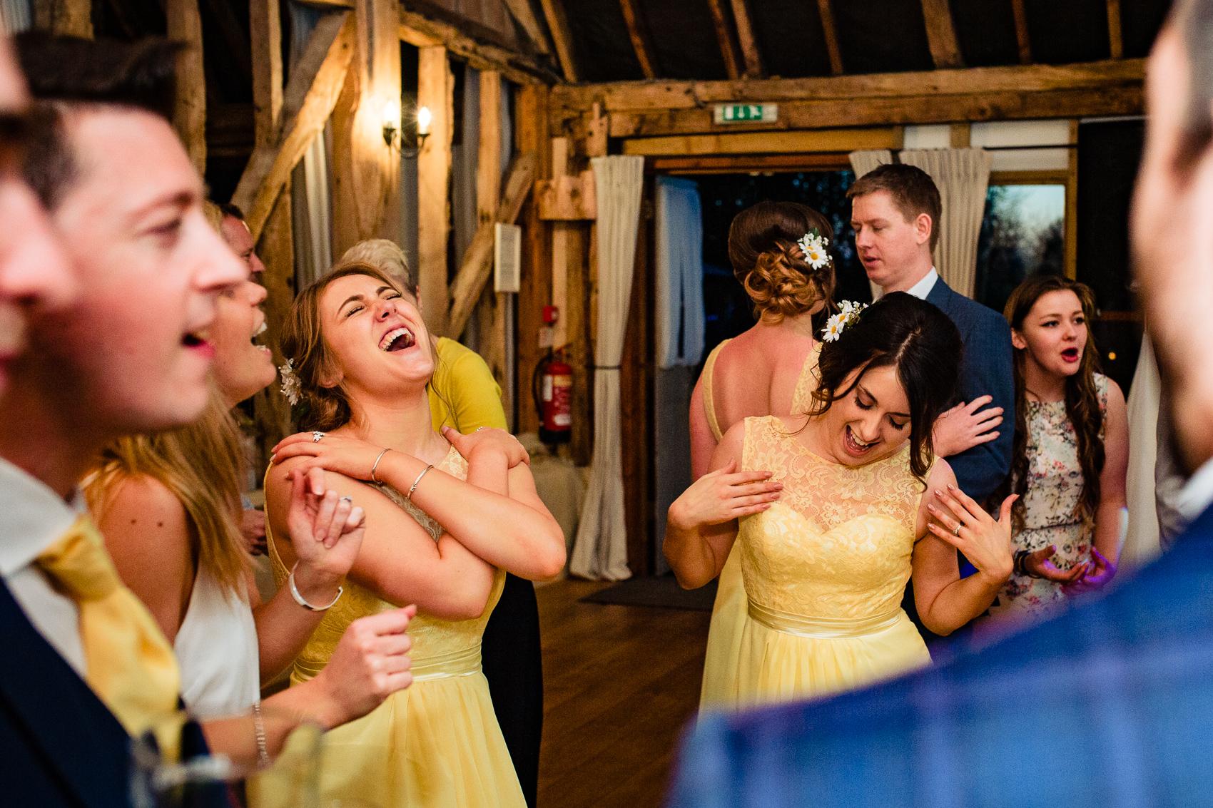 bridesmaids at Clock Barn