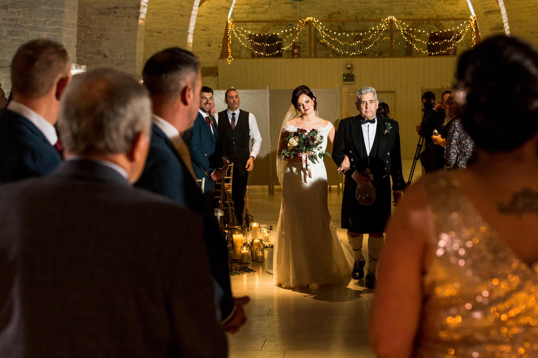 Tithe Barn candle lit ceremony