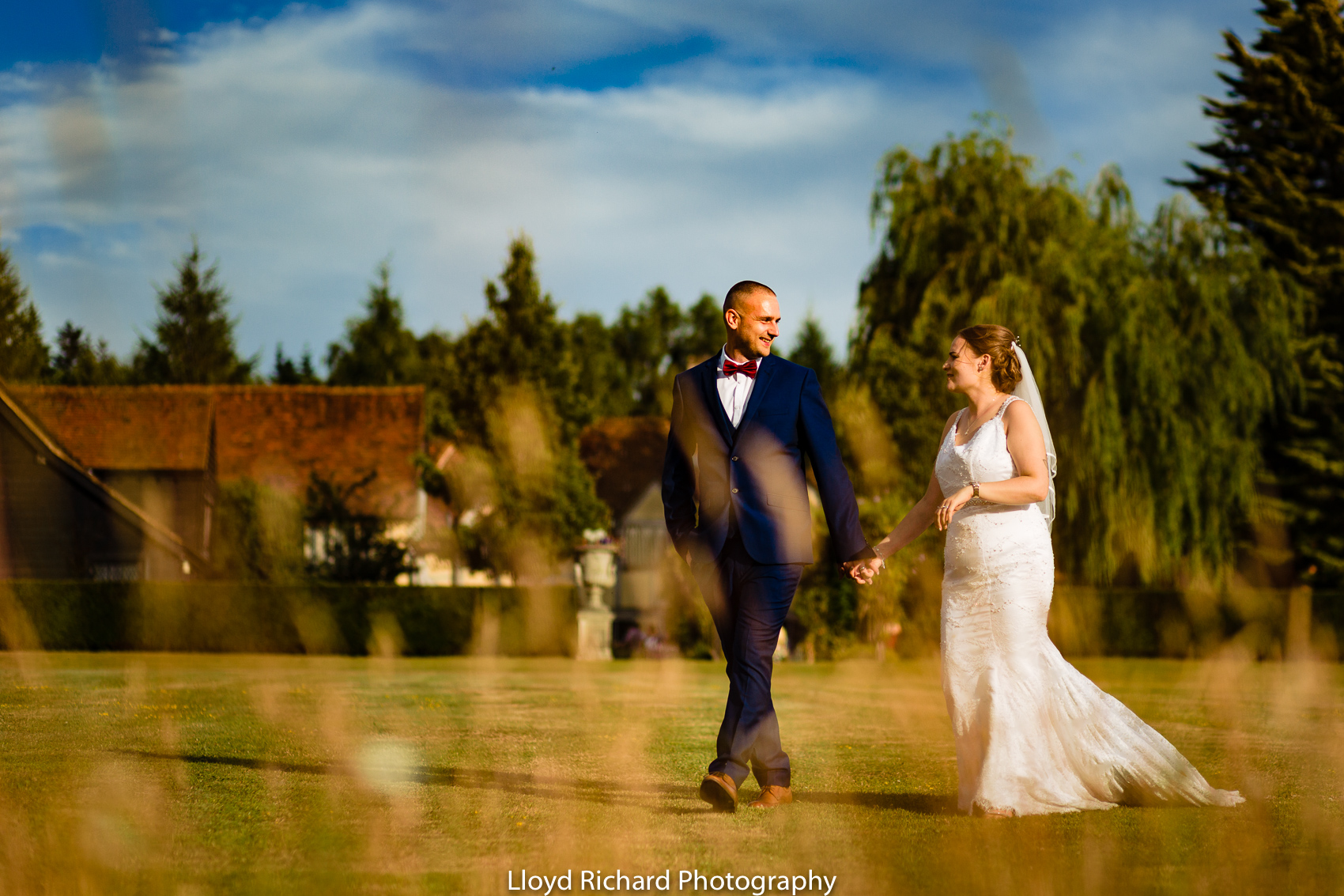 bride and groom at Cain Manor wedding
