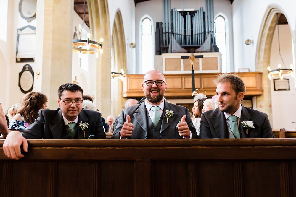 groomsman at wedding ceremony