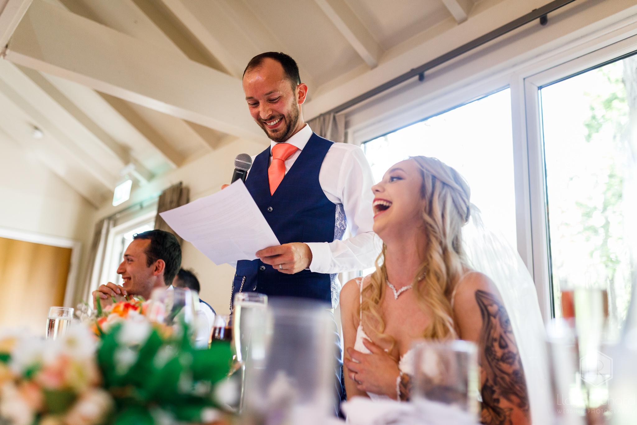 grooms speech at marwell hotel wedding