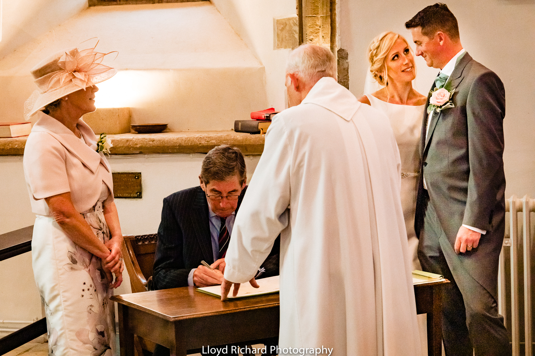 signing of the register at Beaulieu Abbey Domus