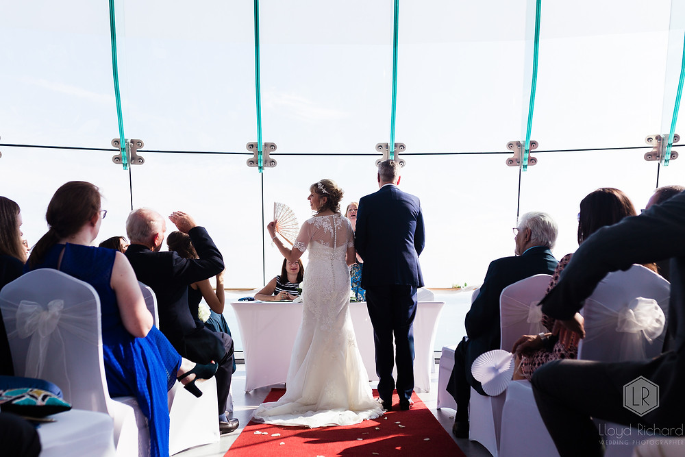 married couple at spinnaker tower