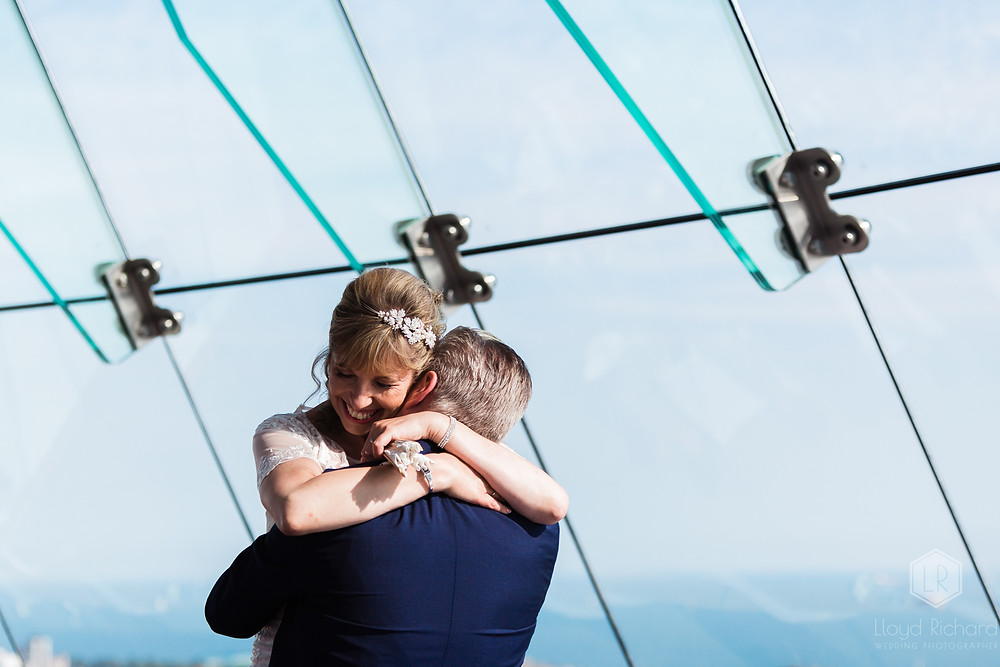 just married at spinnaker tower wedding