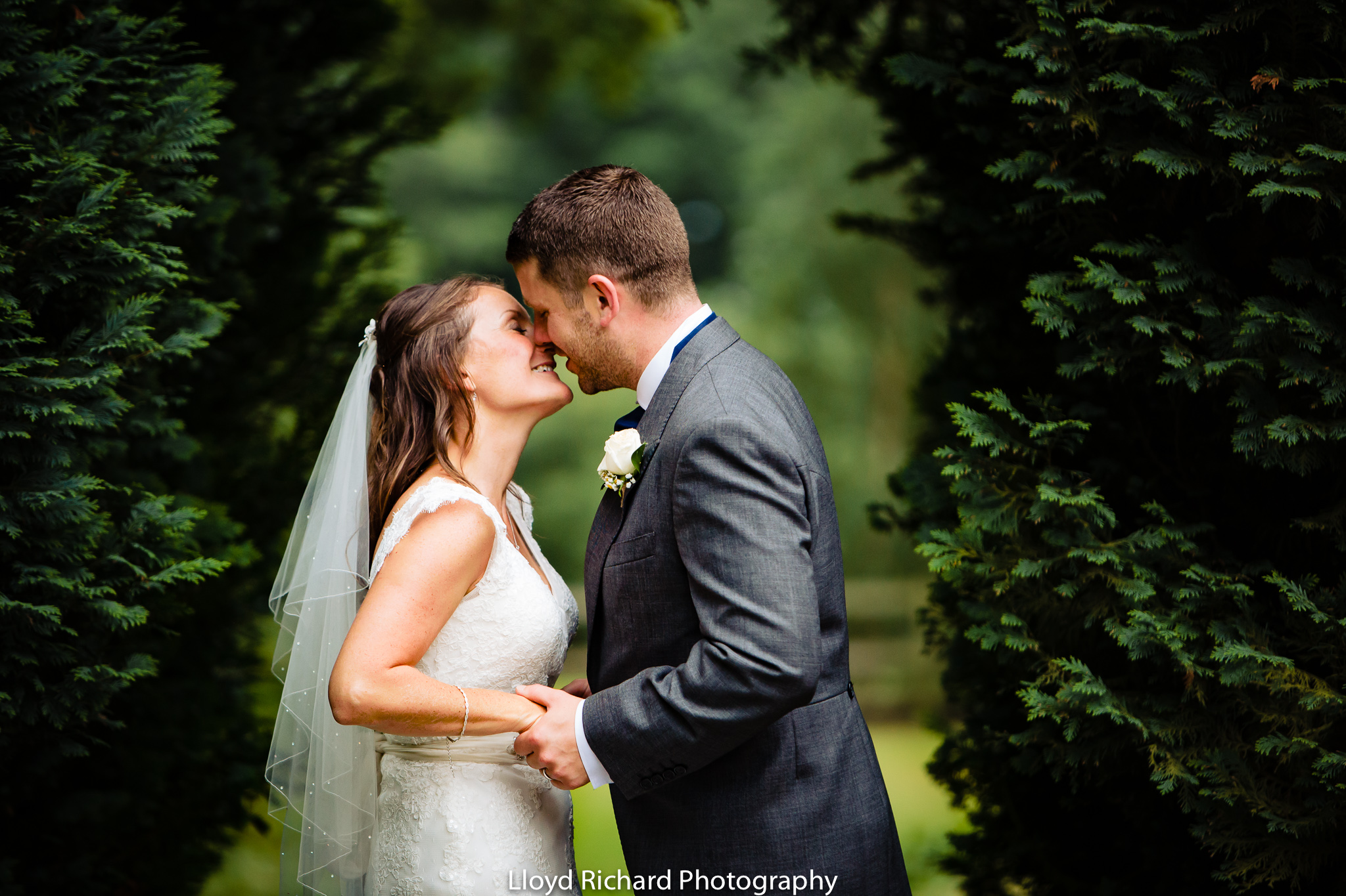 bride and groom portrait De Vere New Place Shirrell Heath