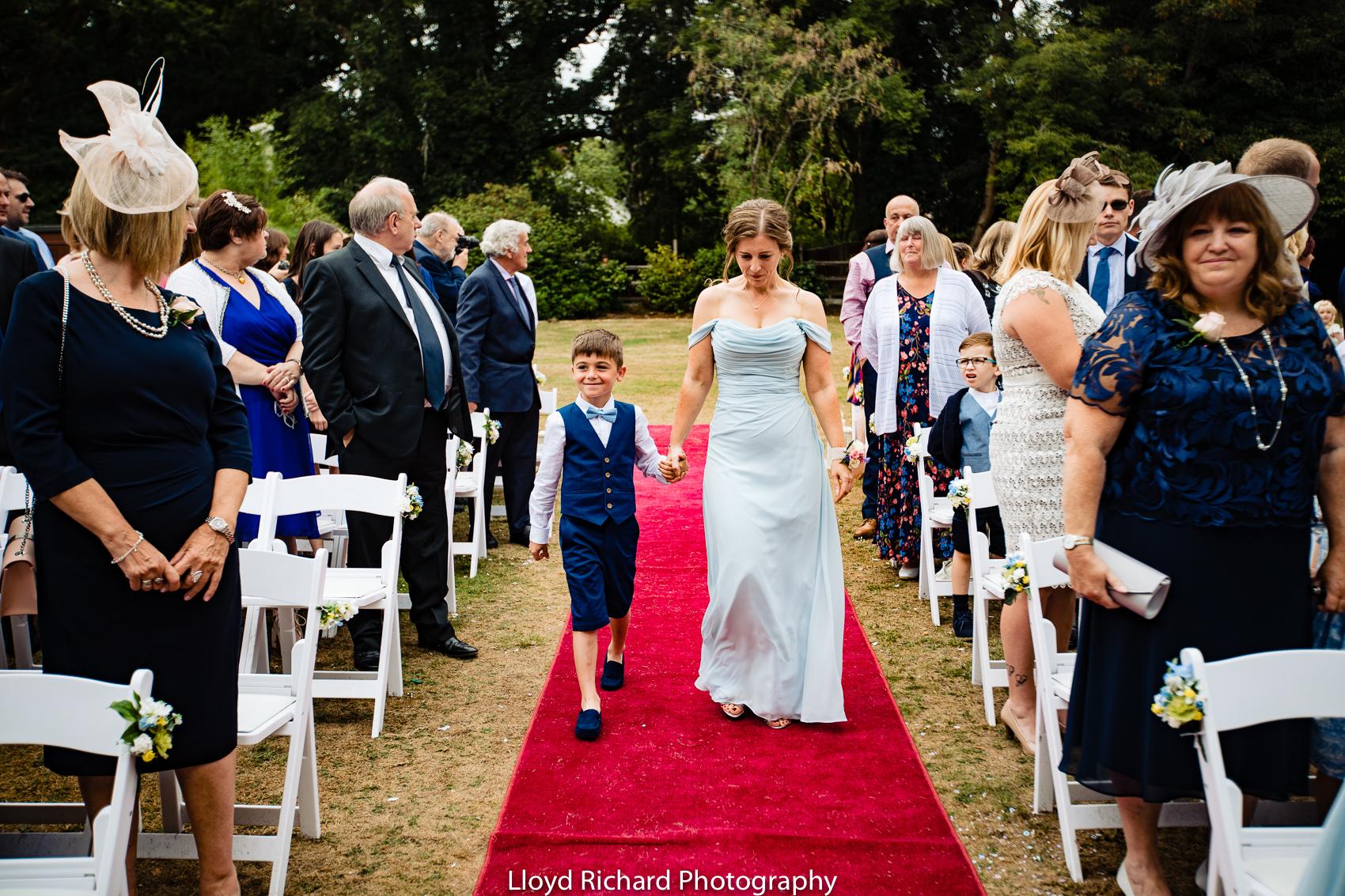 Pavillion wedding at Moorhill House Hotel