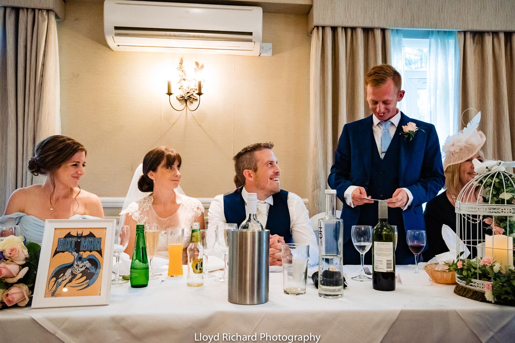 best man speech at Moorhill House Hotel wedding
