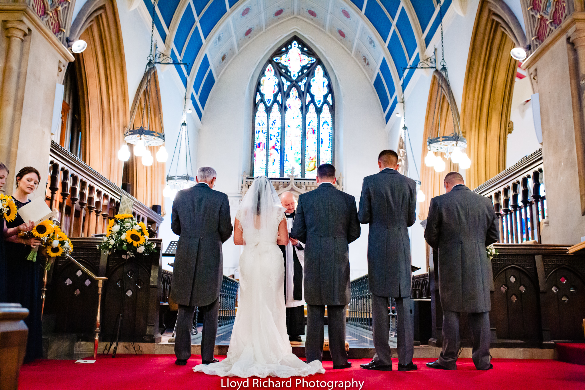 Wedding ceremony St Mary's church Gosport