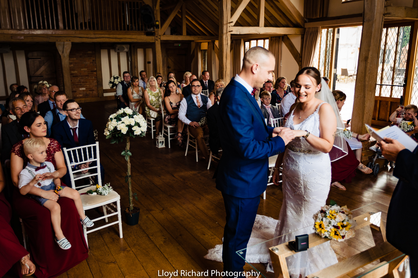 Exchanging of rings at Cain Manor