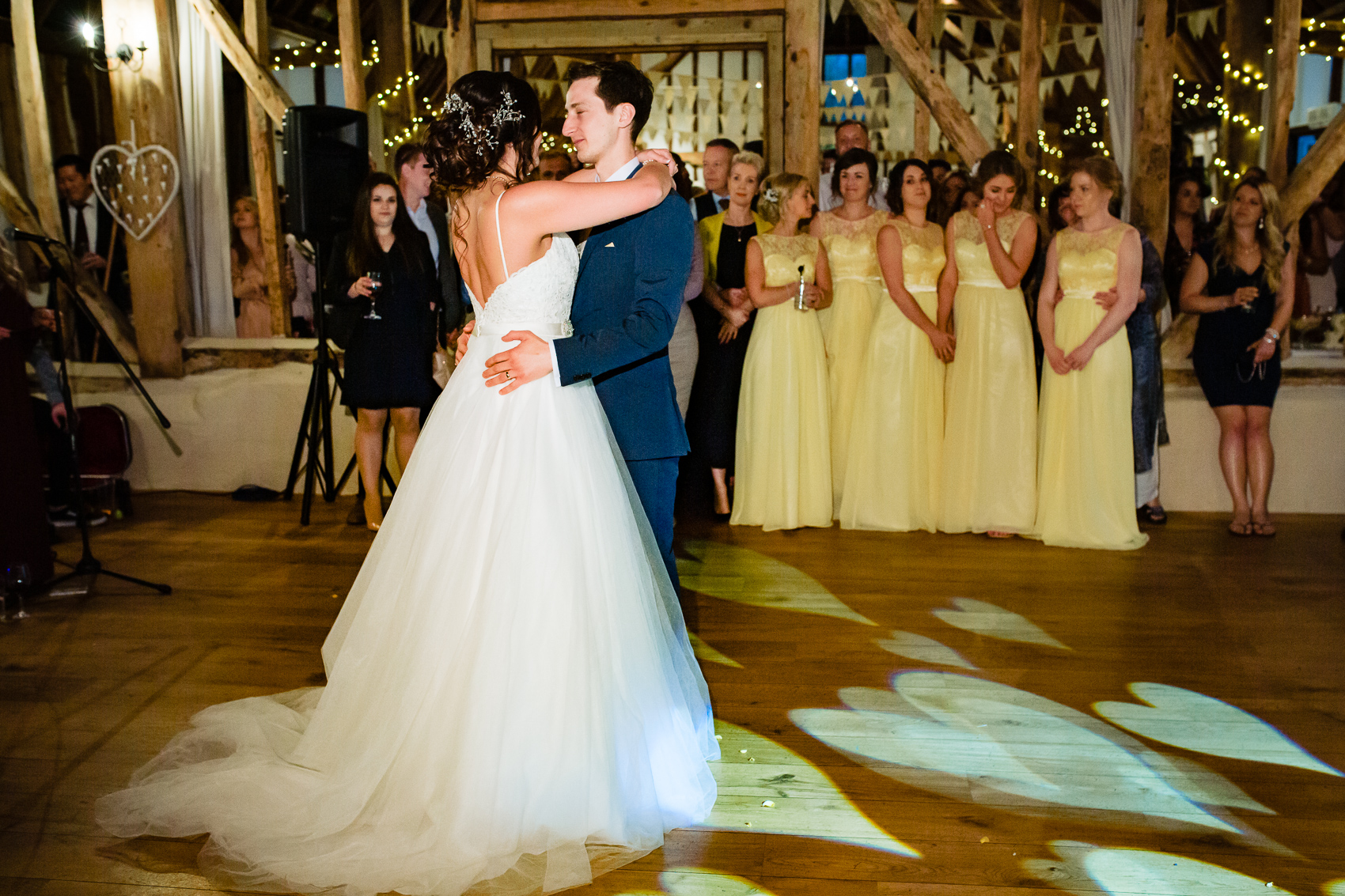 First dance at Clock Barn wedding venue