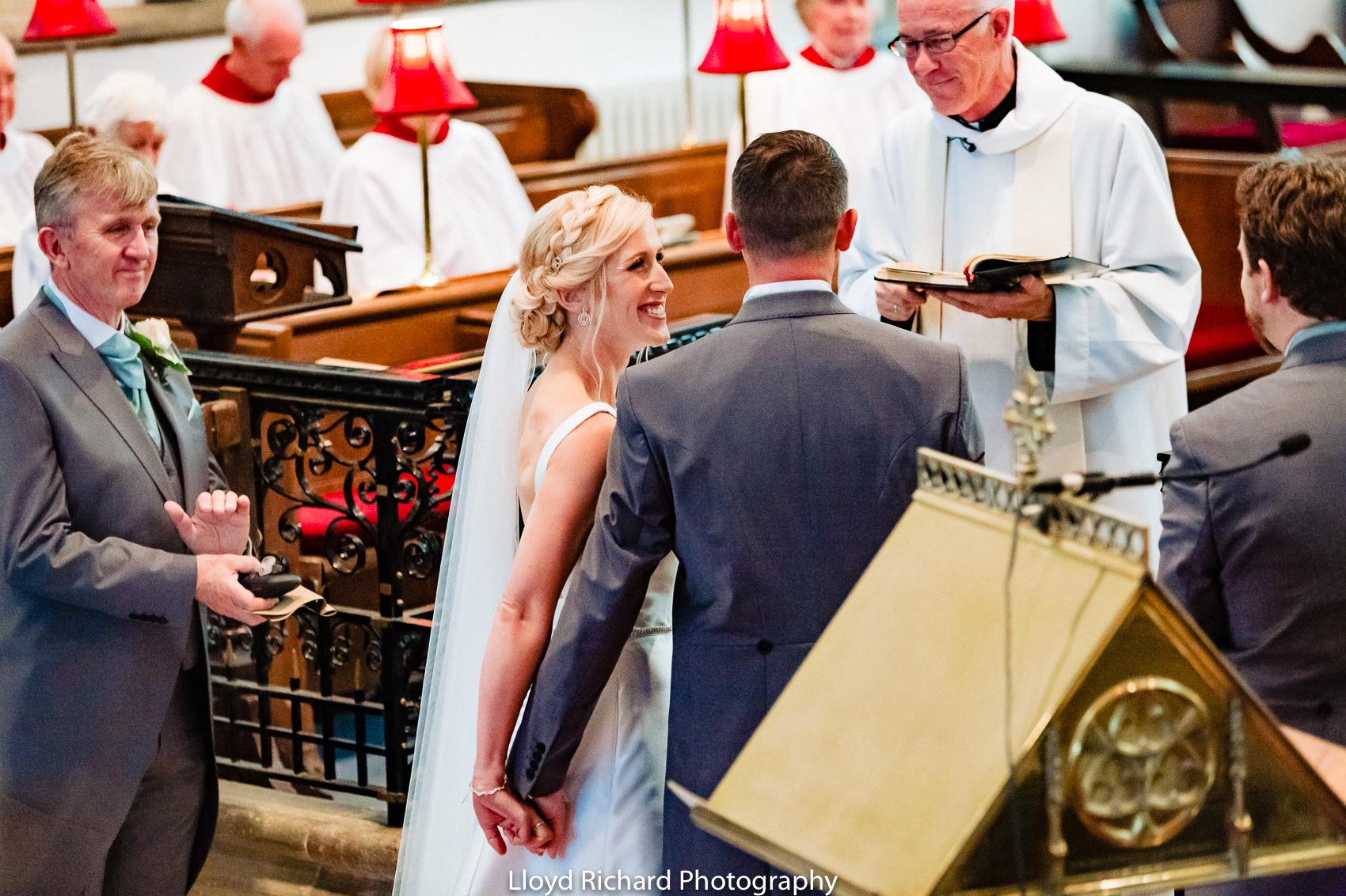 happy bride at Beaulieu Abbey Domus