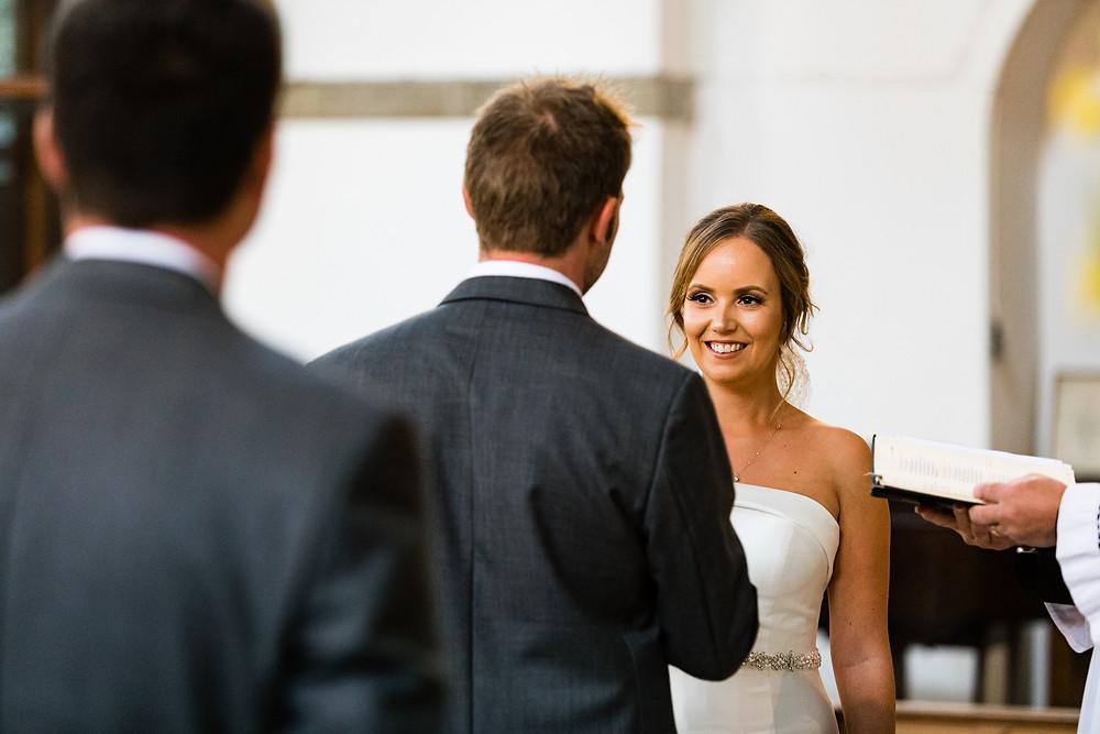 bride at the wedding ceremony