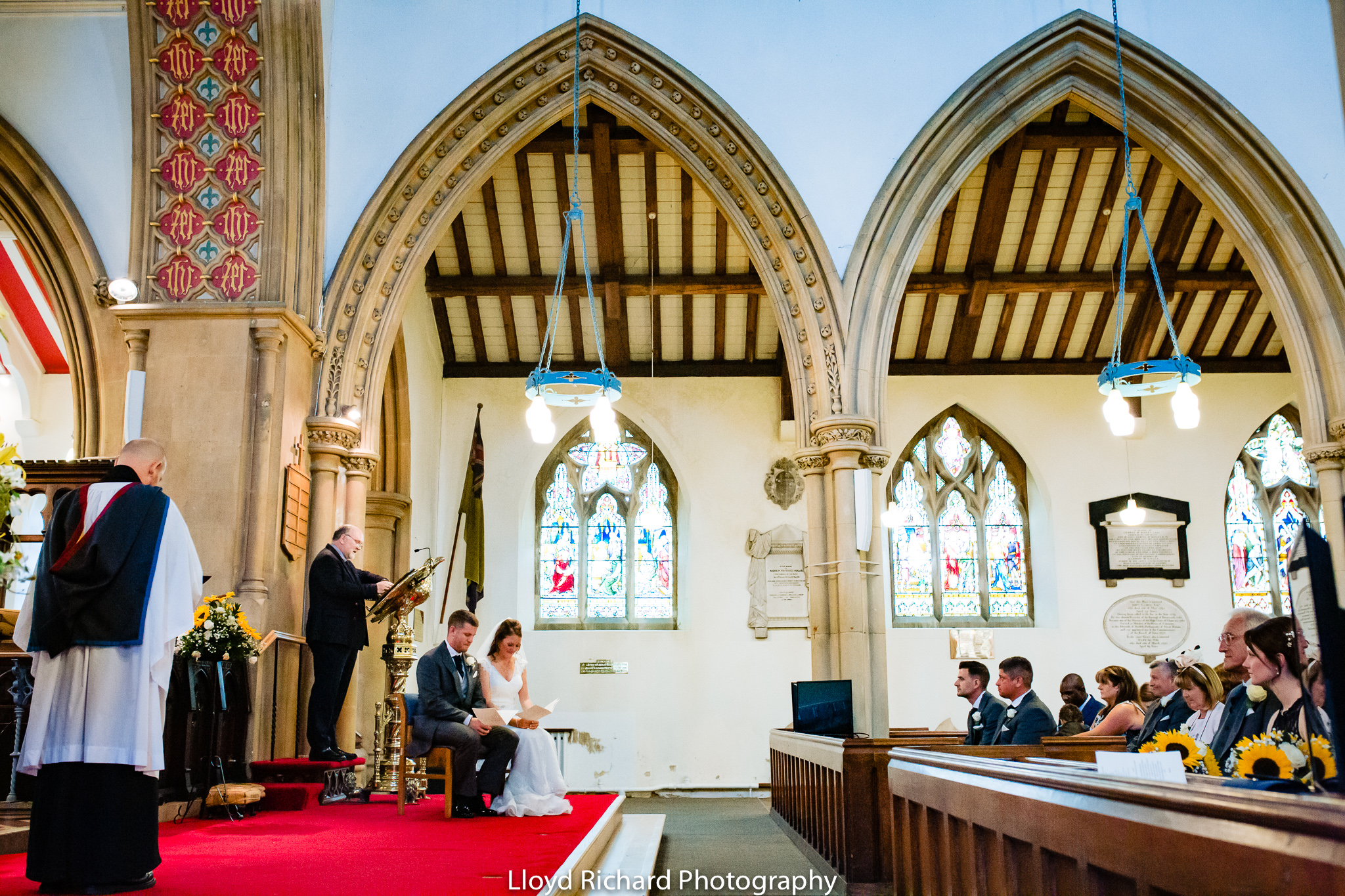 wedding reading at St Mary's church Gosport