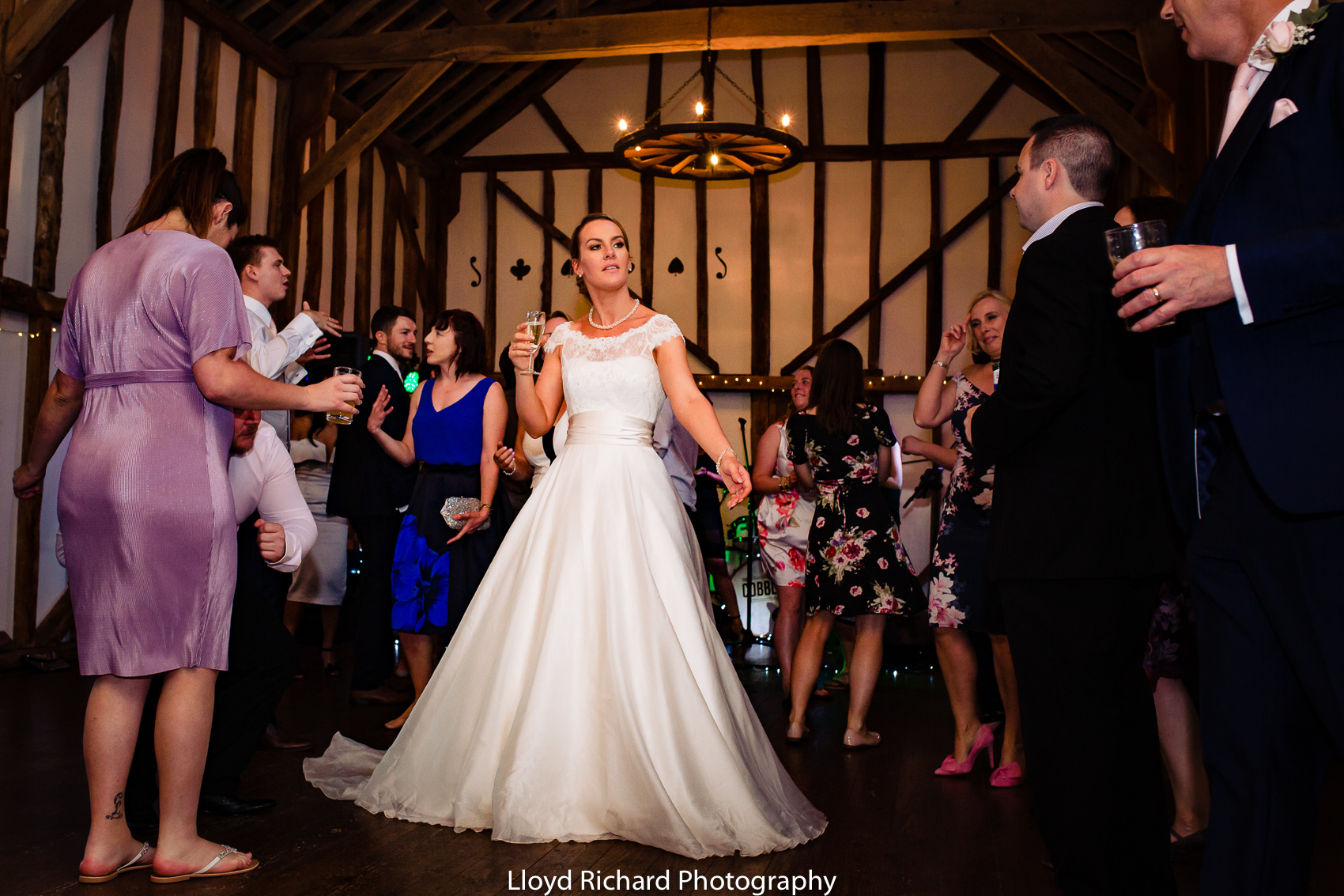 bride dancing at Pitt Hall Barn