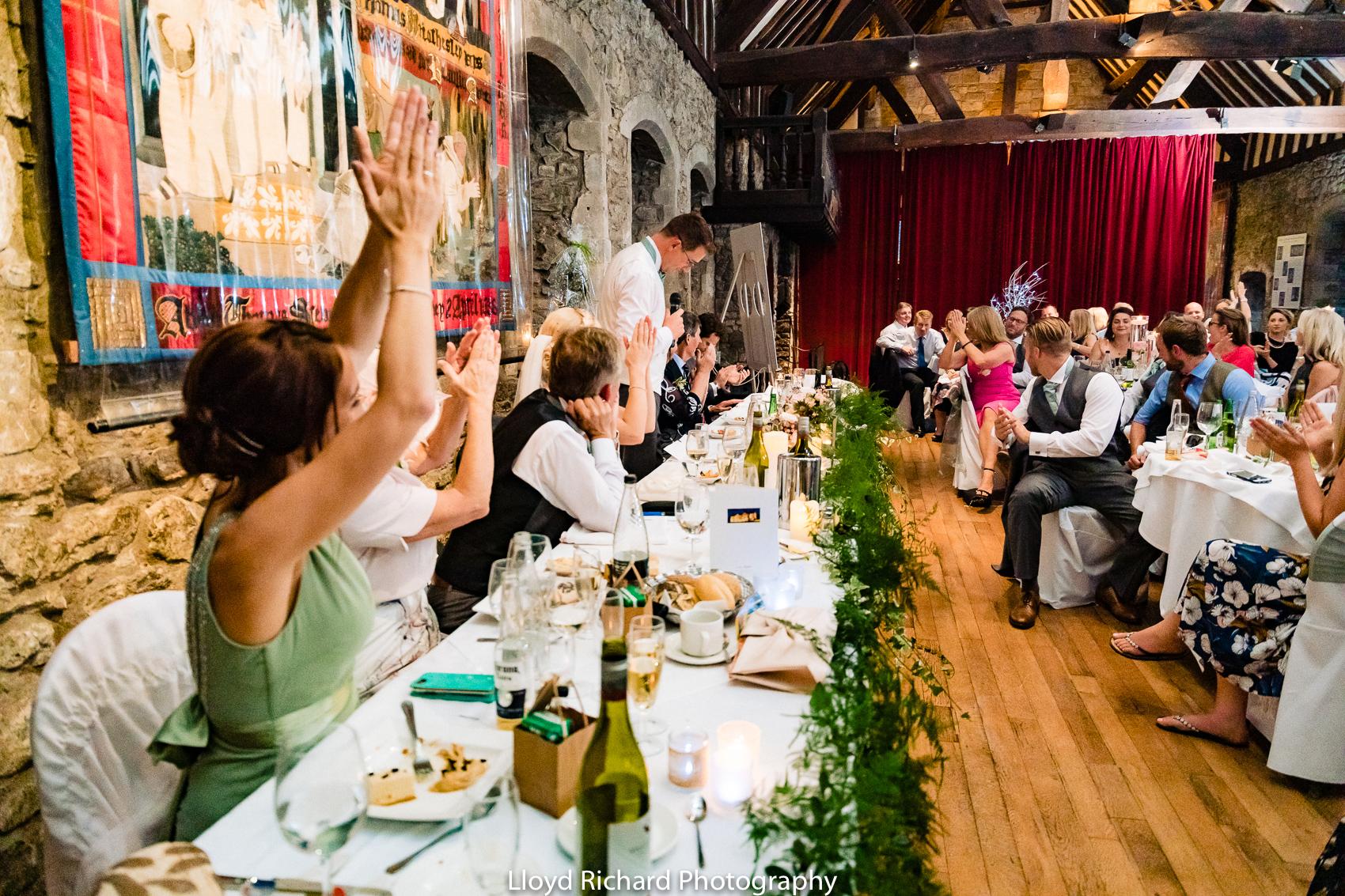 wedding speech at Beaulieu Abbey Domus