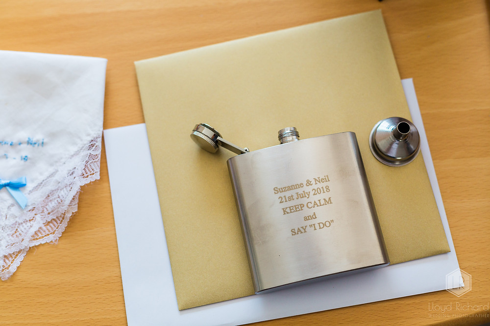 Wedding day hip flask