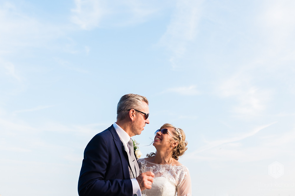 bridal portrait on portsmouth harbour