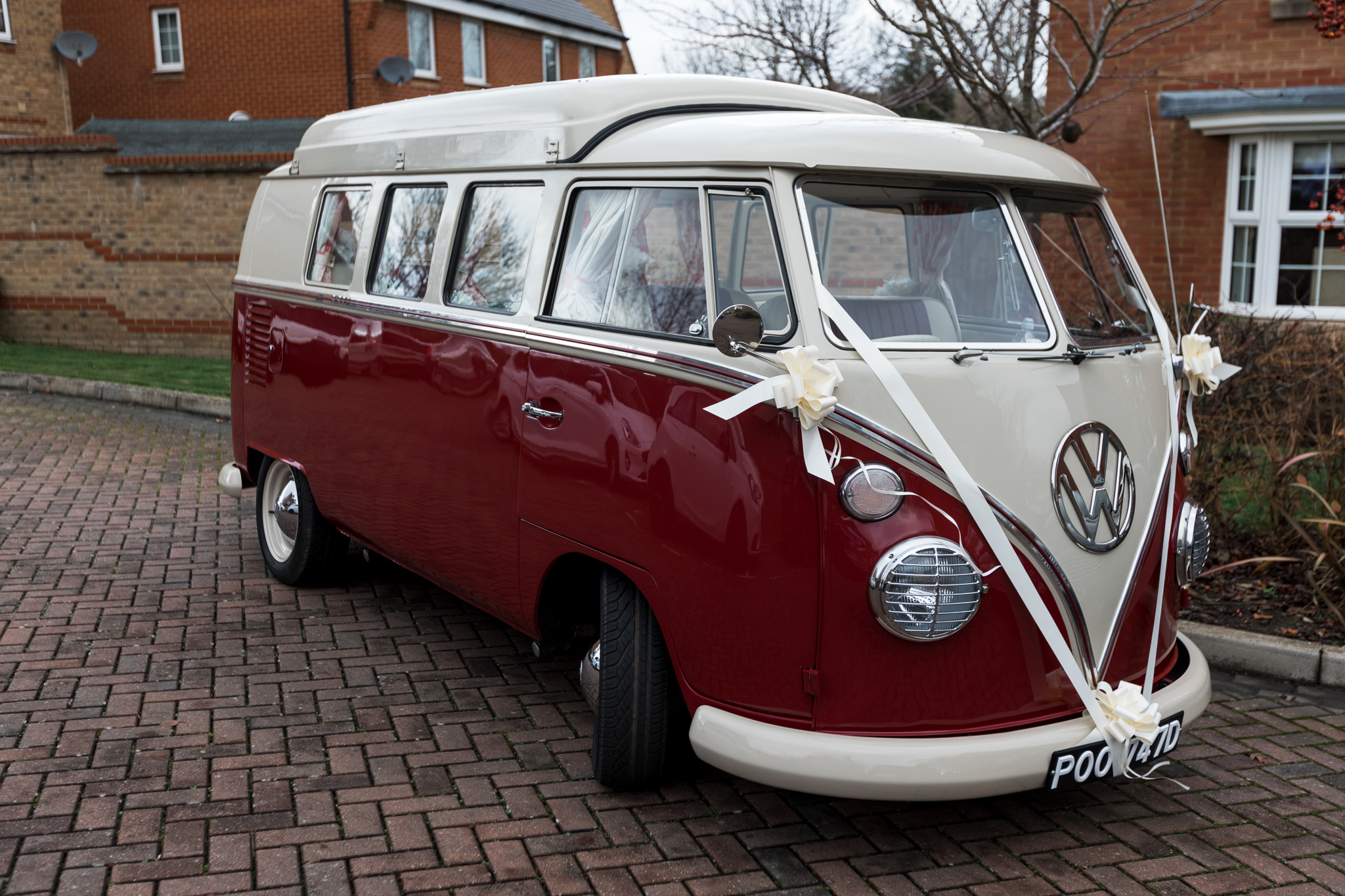 VW camper for wedding transport