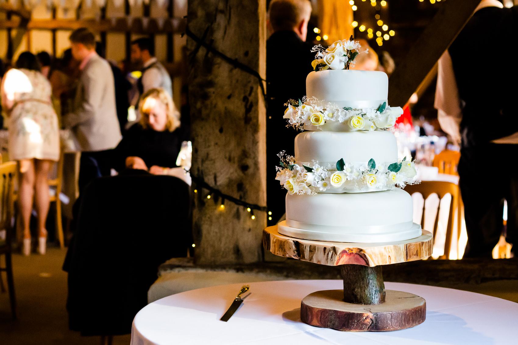 Wedding Cake at Clock Barn