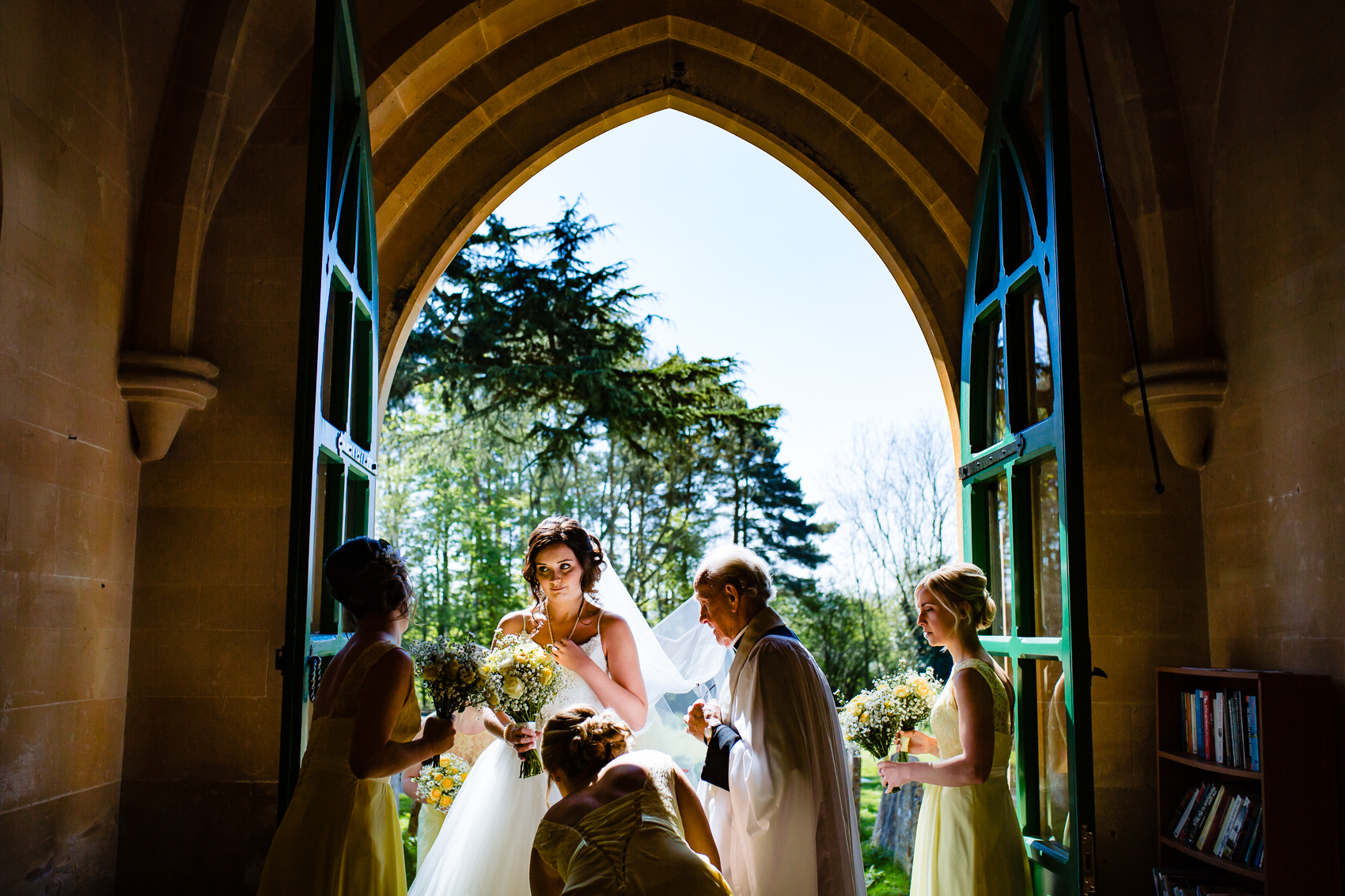 Bride at St Leonard's Church Sherfield on Loddon