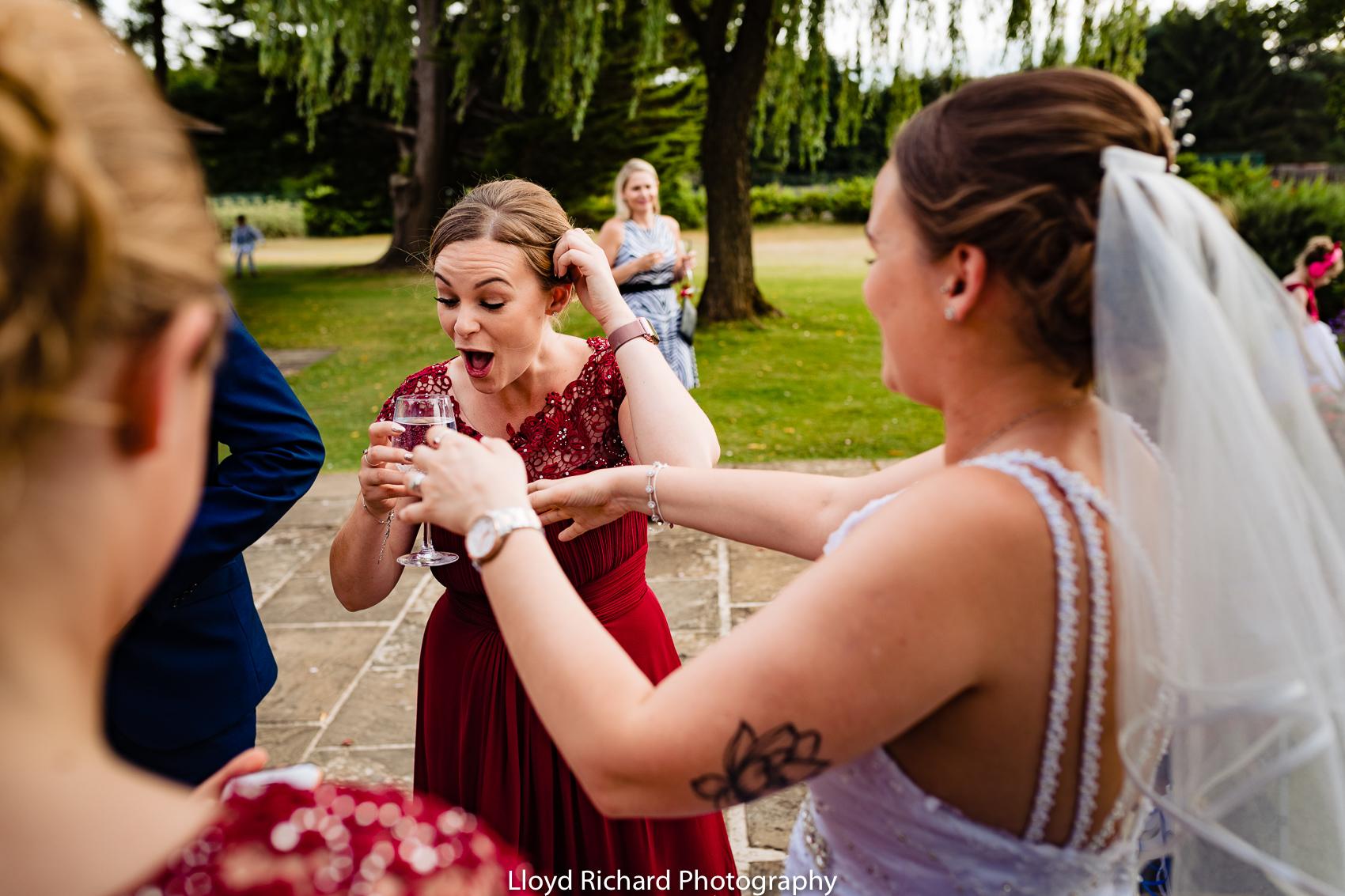 wedding drinks at Cain Manor wedding