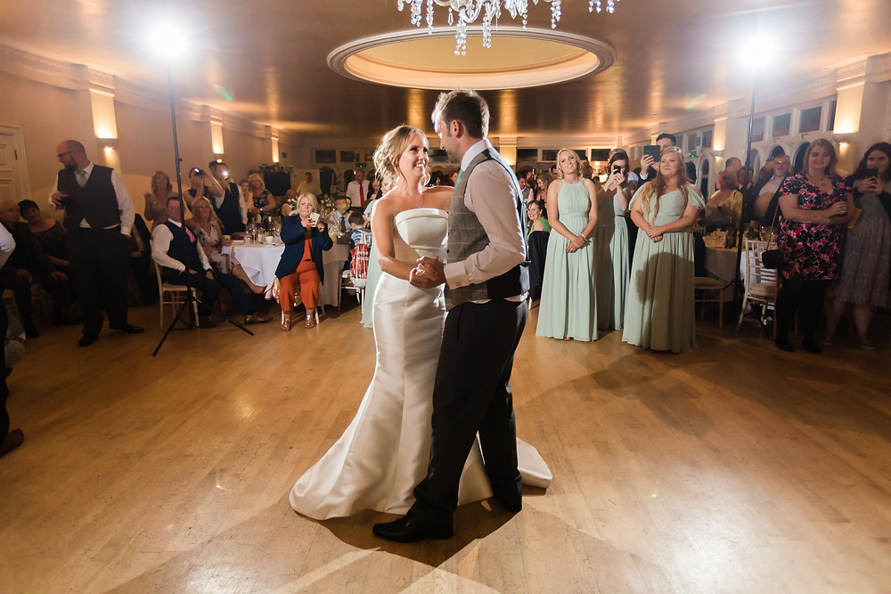 first dance at Wedding Reception at Rookesbury Park, Wickham