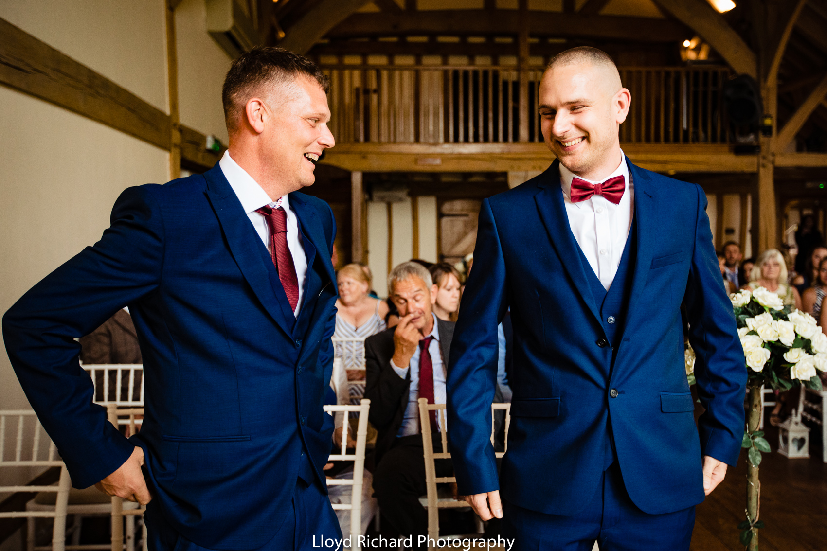 Groom and best man at Cain Manor