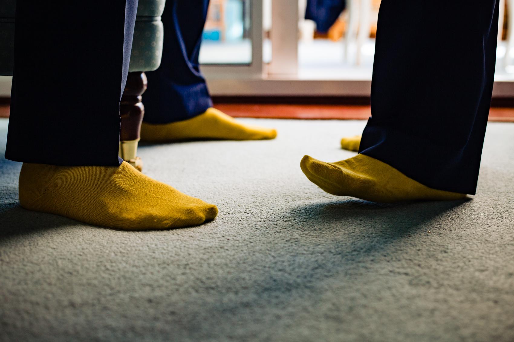 Yellow Wedding socks