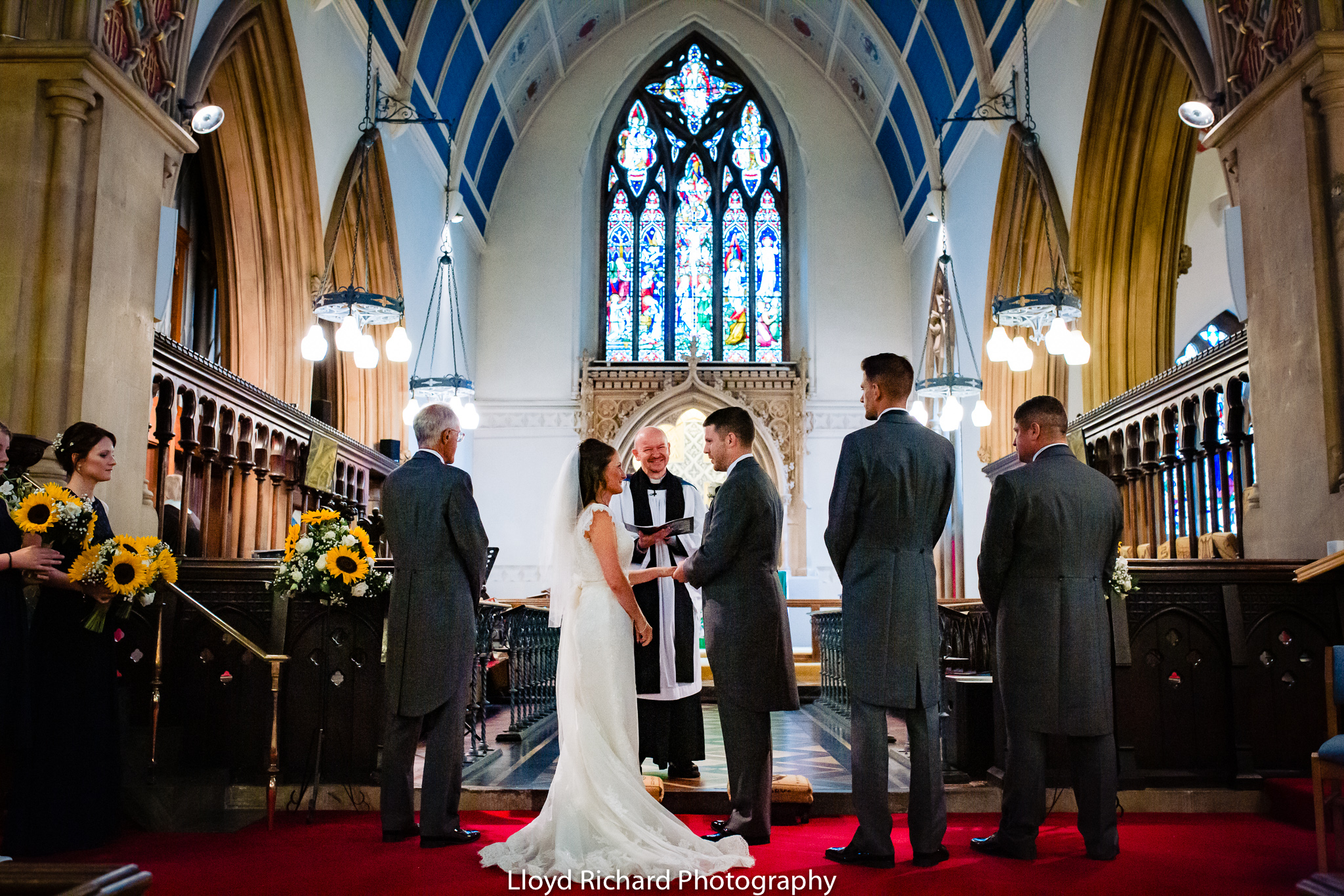 Saying vows at St Mary's church Gosport