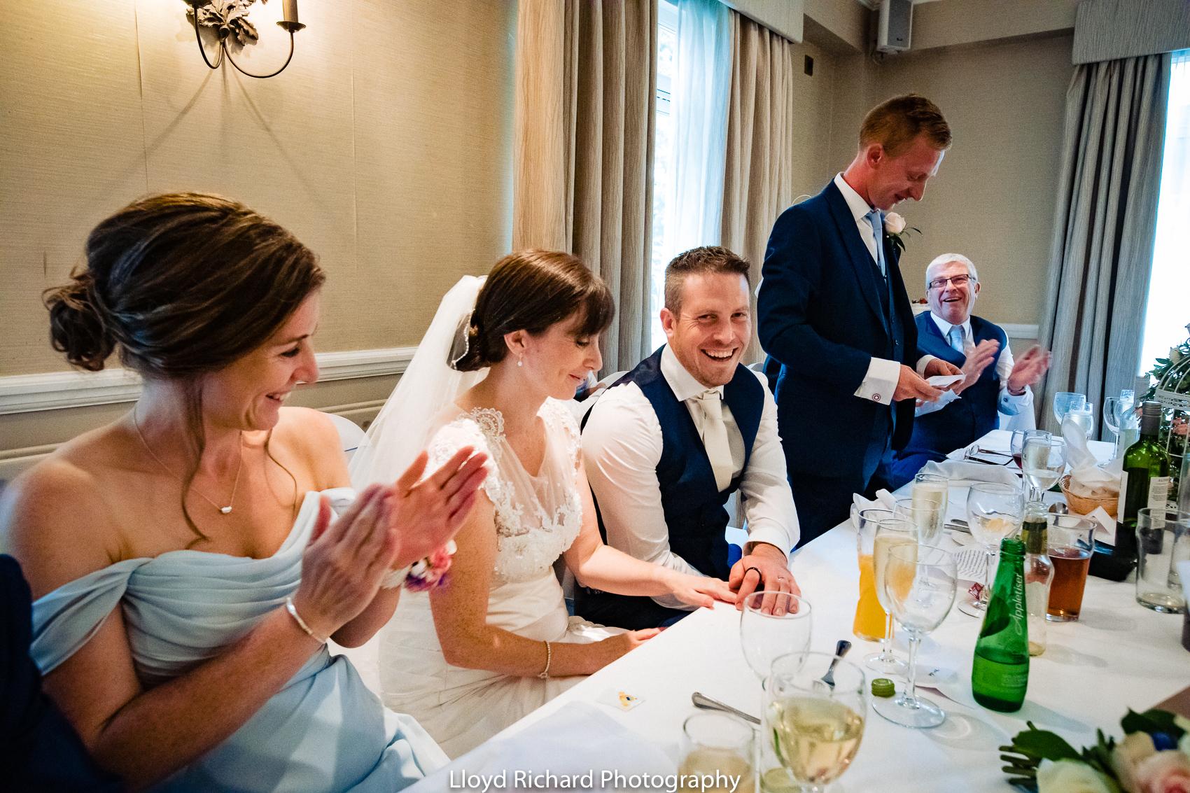 speeches at Moorhill House Hotel wedding