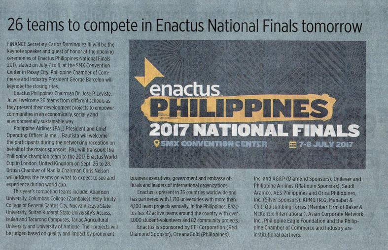 Media Exposure: Enactus
