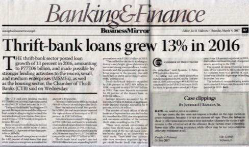 Media Exposure: Country Bankers
