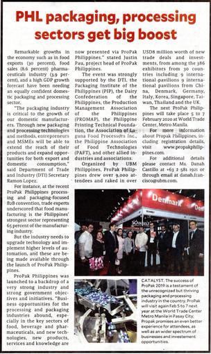Media Exposure: Propak Philippines 2020