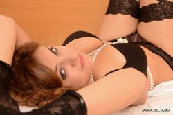 Sesión boudoir en hotel
