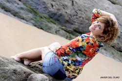 En la playa de Santander