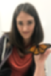 Christine Merlin with Butterfly