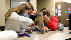 students working on wood project 2020