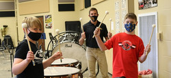 teacher and students with drums 2020