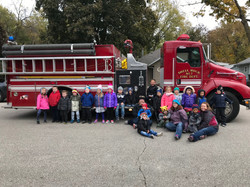 firetruck and students 2018-19