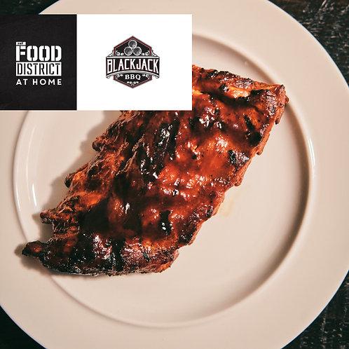 SWEET WHISKEY PORK RIBS BY BLACKJACK BBQ