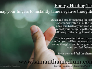 Energy Healing Tip: Clear Negativity