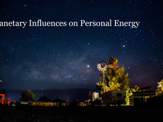 Planetary Influences on Personal Energy: Part I - The Moon
