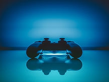 Video Game Console Blue