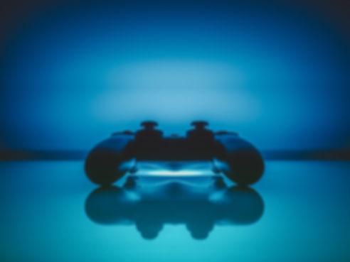 Console de jeux vidéo bleu