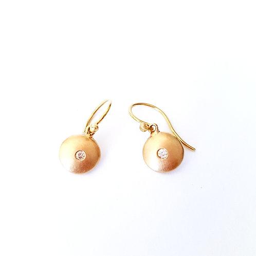 14k Yellow Gold Simple Classic Dangle Earrings