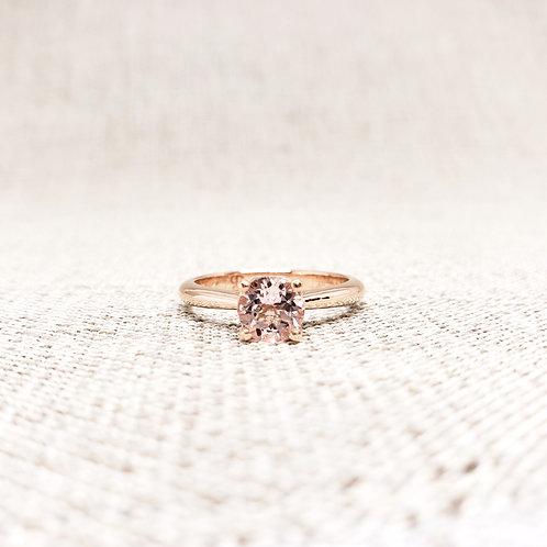 Morganite Solitaire Engagement Ring